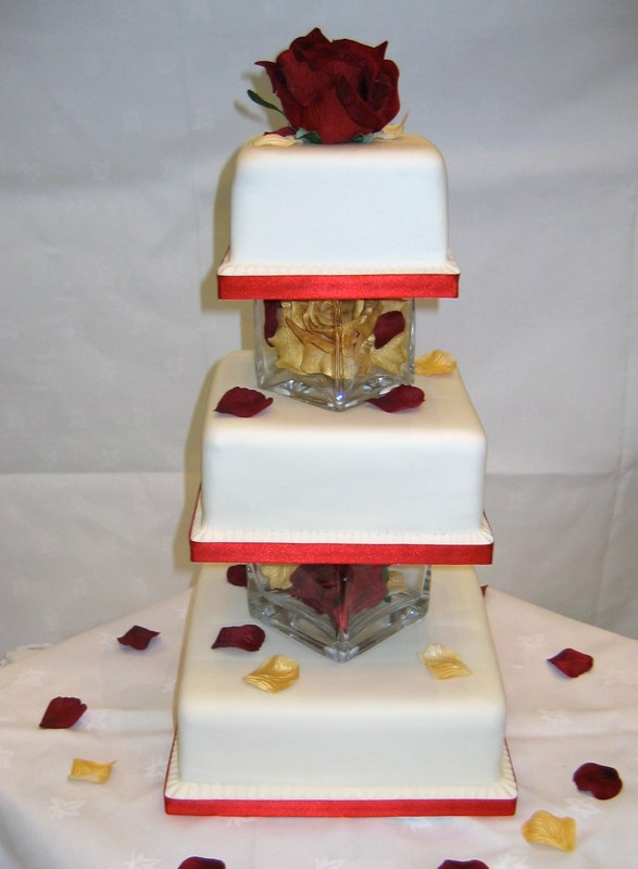 Square Wedding Cake Galleries Celebration Tiers